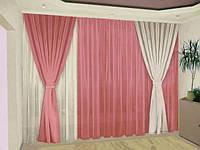 Комплект готовых штор в гостиную в Украине, фото 1