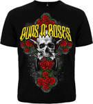 Футболка Guns'n'Roses (крест из роз)