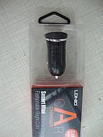 USB зарядка в прикуриватель авто 2.1А  12-24V