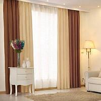 Плотные шторы в спальню готовые