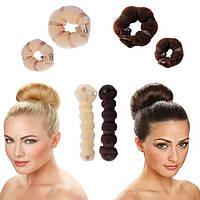 """Валики резинки для создания объёмной причёски """"Hot buns"""""""