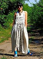 Летний женский сарафан из натурального льна