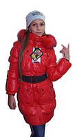 Теплое зимнее пальто для девочки KIKO + доставка