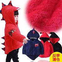 Детская теплая куртка динозавр