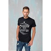 Мужская патриотическая футболка «Freedom» (черная)