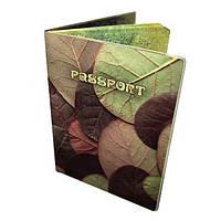 Обложка для паспорта Листья