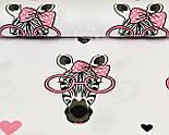 Ткань хлопковая с зебрами в розовых очках (№ 831а), фото 4