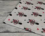 Ткань хлопковая с зебрами в розовых очках (№ 831а), фото 5