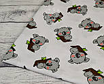 Бязь с серыми мишками коала на веточке дерева (№ 828а), фото 8
