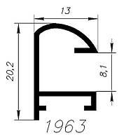АЛЮМИНИЕВЫЙ ПРОФИЛЬ SARAY цвет черный L=6М (1963)