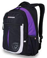 WENGER Рюкзак MONTREUX черный/фиолетовый (26 л)