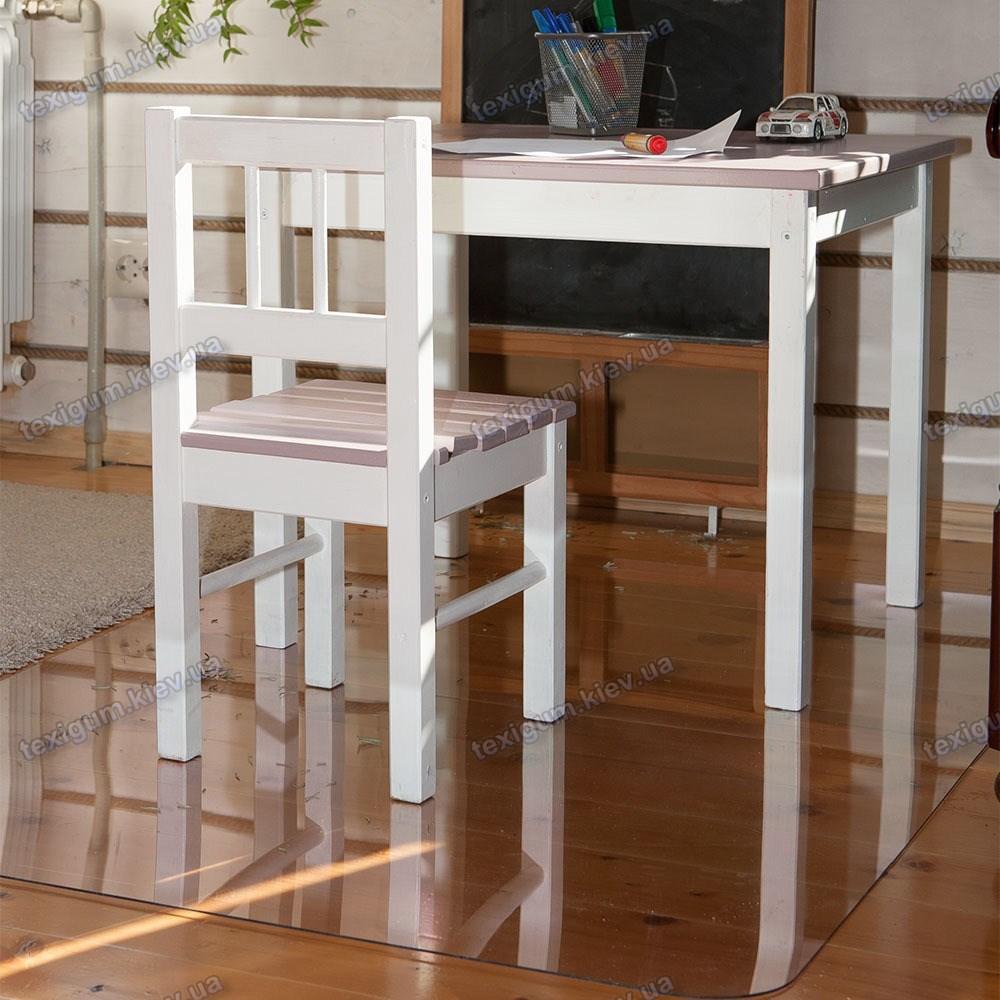 Коврик под кресло для защиты пола прозрачный 70х125см. Толщина 1,5мм