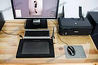 Коврик под ноутбук для защиты стола прозрачный 55х62см. Толщина 0,8мм