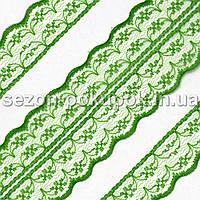 "Кружево ""Аллюр"" ширина 4,5см  (цена за 1м). Цвет - зеленый"
