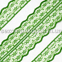 "Кружево ""Аллюр"" ширина 4,5см  (цена за 10 метров). Цвет - зеленый"