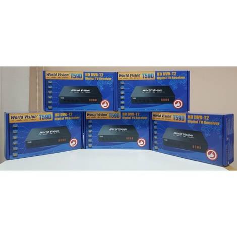 Цифровой Т2 ресивер приставка тюнер DVB-T2 World Vision T59D AC3 АС3 Dolby Digital