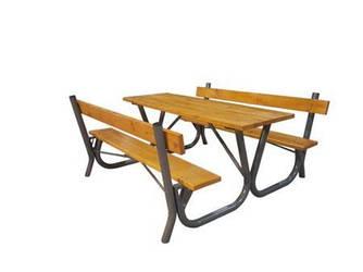 Садовий стіл з лавками