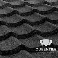 Композитная черепица QueenTile Standard 1-тайловый Black