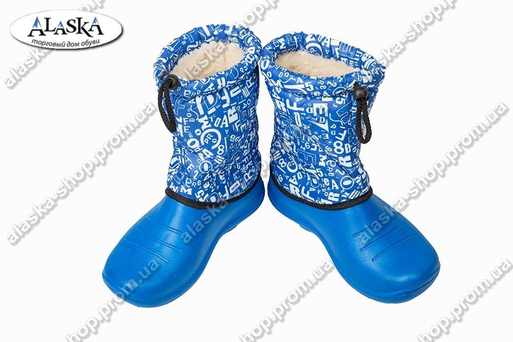 Детские дутики голубые (Код: БД-02)