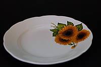 Тарелка Подсолнухи, деколь