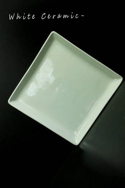 Тарелка квадратная с бортиком