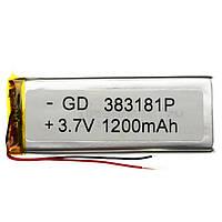Аккумулятор литий-полимерный 383181P 3.7V 1200mAh