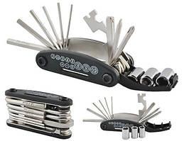 Мультитул набір ключів для велосипеда 16в1