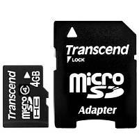 Карта памяти Transcend 4 GB microSDHC class 4 + SD Adapter (TS4GUSDHC4)
