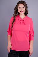 Кортни. Оригинальная женская блуза больших размеров. Розовый.