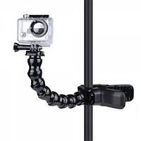 Крепление зажимное, челюсти, гусиная шея Jaws Flex Clamp Mount Goo для экшн камер GoPro, SJCAM, Xiaomi, Sj4000
