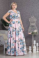 Длинное платье в пол р.48-54 V296-01