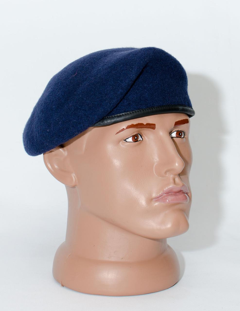 Берет НАТО капелька темно-синий  обитый без фурнитуры