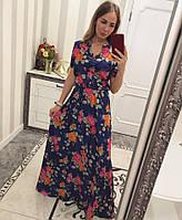 Платье длинное из атласа