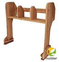 Комплект Парта+Стілець+Надбудова Растишка 60 см (Mobler TM), фото 2