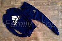 Спортивный костюм Adidas Адидас темно синий (реплика)