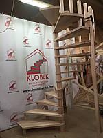 Деревянная лестница из бука Klobuk D017 винтовая круглая
