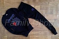Спортивный костюм Reebok Рибок темно синий (реплика)