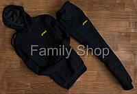 Спортивный костюм Asics Асикс с капюшоном черный (реплика)
