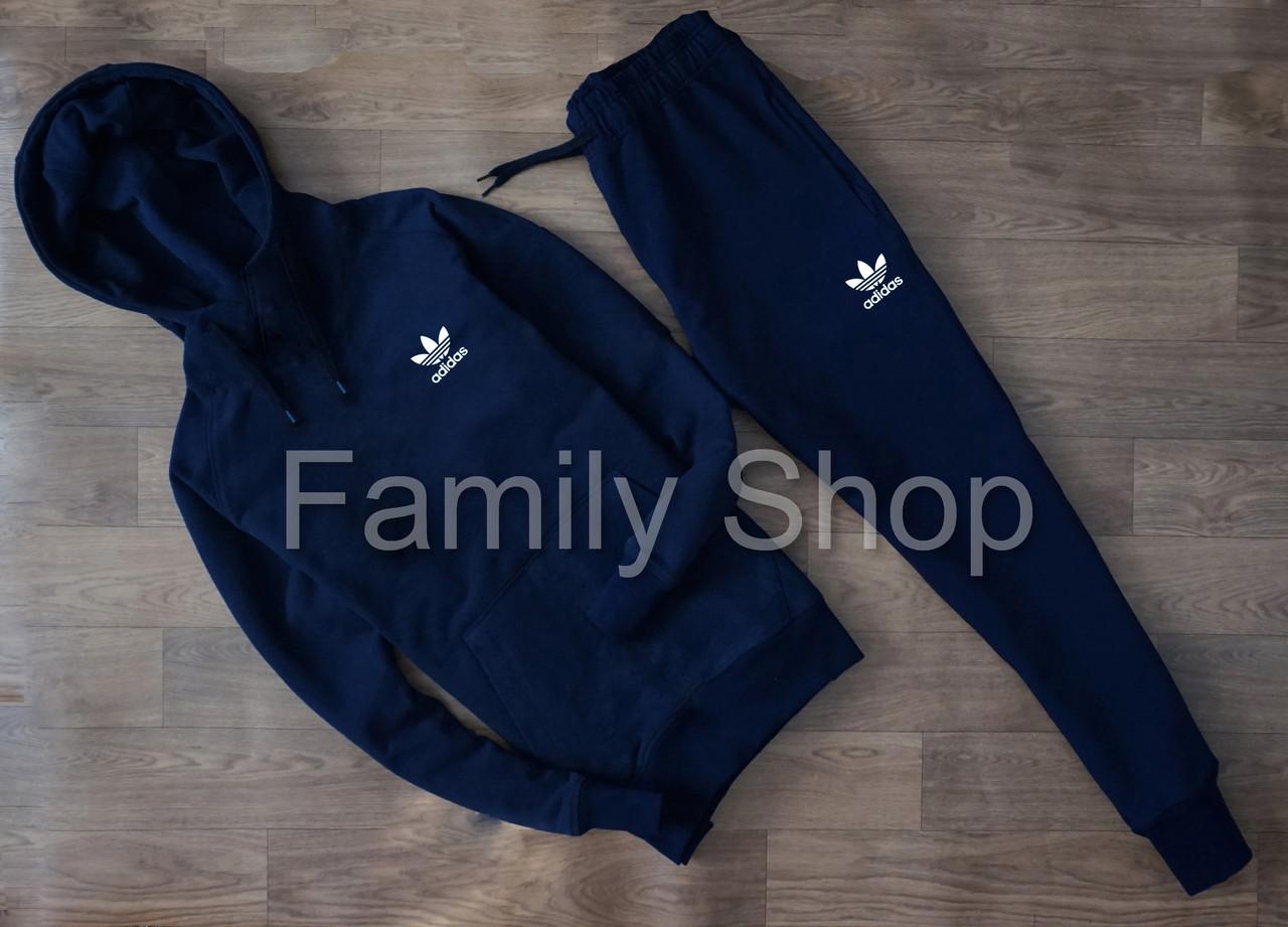 Спортивный Костюм Adidas Адидас Темно Синий (маленький Принт) (реплика) — в  Категории