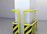 Защитный отбойник со стальной пластиной ø76 (2003)