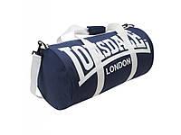 Сумка спортивная Lonsdale Barrel Bag синяя белый (реплика)