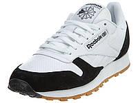 Мужские  кроссовки Reebok Classic Fashion Leather White/Black