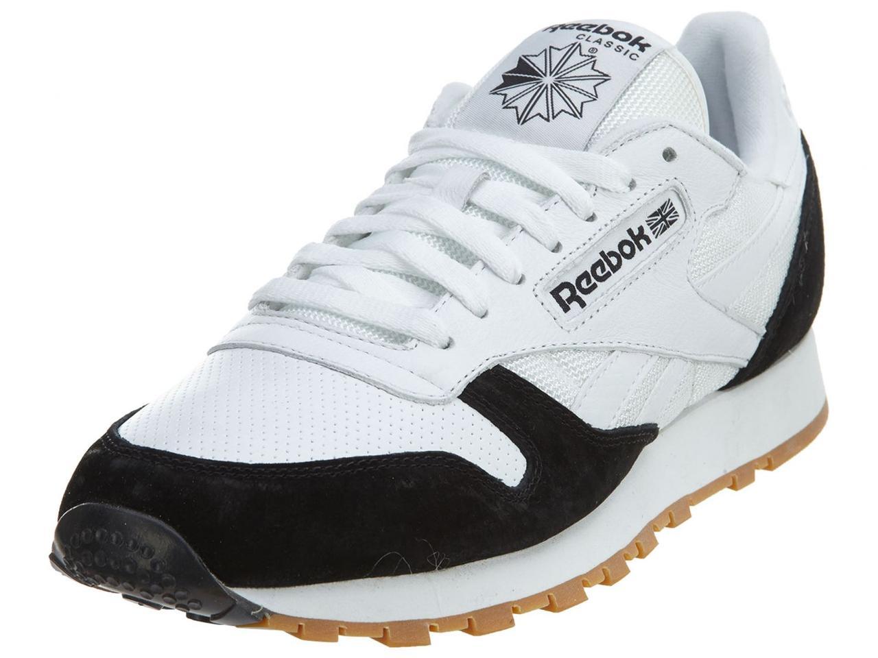 Мужские кроссовки Reebok Classic Fashion Leather White Black -  Интернет-магазин Shikari в Киеве 880096eca23