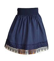 Шикарная школьная юбка. Юбка с ажурным кружевом.