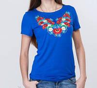 Женская хлопковая футболка -вышиванка, фото 1
