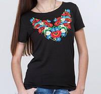 Красивая футболка с вышивкой, фото 1