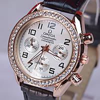 Женские наручные часы кварц черный ремешок, фото 1