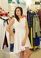 Брендовое женское платье летнее белое хлопок Италия