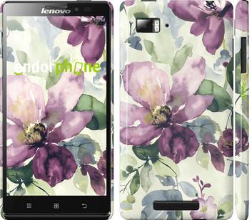 Чехол на Lenovo Vibe Z K910 Цветы акварелью