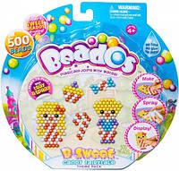 Игровой набор аквамозаики из бусинок Beados – Королевство сладостей (500 бусинок, спрей, шаблоны, аксессуары)